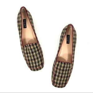 Kate Spade New York Houndstooth Plaid Wool Shoes 8